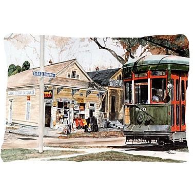 Caroline's Treasures New Orleans Streetcar Indoor/Outdoor Throw Pillow