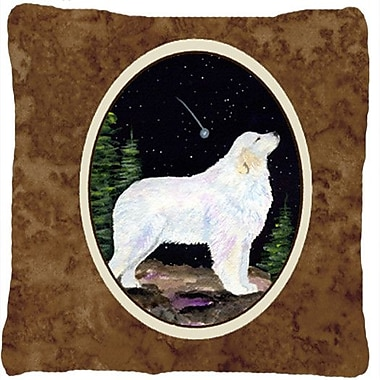 Caroline's Treasures Starry Night Great Pyrenees Indoor/Outdoor Throw Pillow