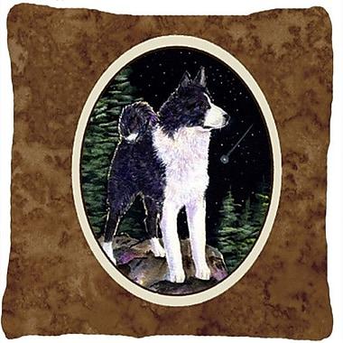 Caroline's Treasures Starry Night Karelian Bear Dog Indoor/Outdoor Throw Pillow