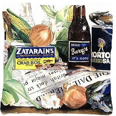 Caroline's Treasures Barq's, Crabs, and Spices Indoor/Outdoor Throw Pillow