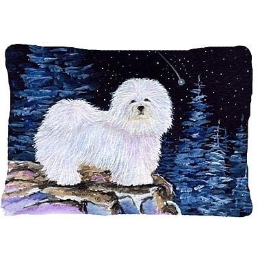 Caroline's Treasures Starry Night Coton De Tulear Indoor/Outdoor Throw Pillow