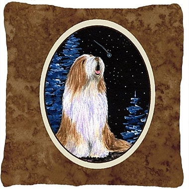Caroline's Treasures Starry Night Bearded Collie Indoor/Outdoor Throw Pillow
