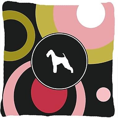 Caroline's Treasures Airedale Indoor/Outdoor Throw Pillow
