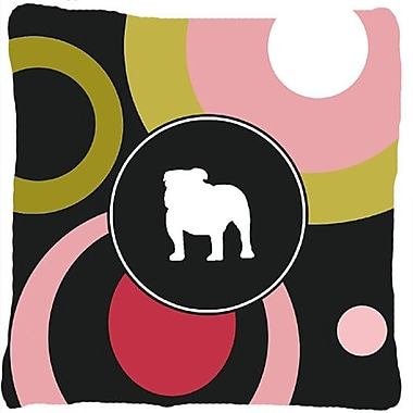 Caroline's Treasures Bulldog Indoor/Outdoor Throw Pillow