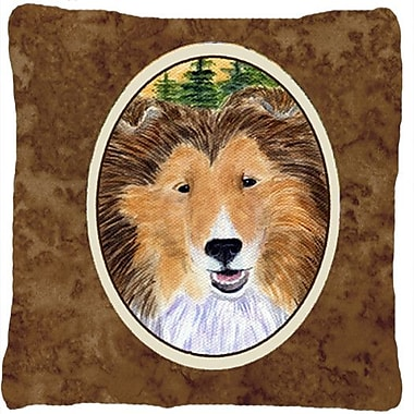 Caroline's Treasures Sheltie Indoor/Outdoor Throw Pillow