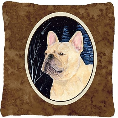 Caroline's Treasures Starry Night French Bulldog Indoor/Outdoor Throw Pillow