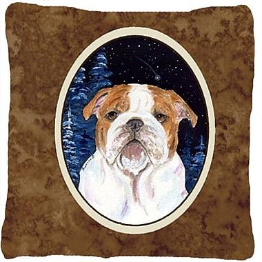 Caroline's Treasures Starry Night English Bulldog Indoor/Outdoor Throw Pillow
