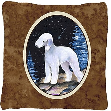 Caroline's Treasures Starry Night Bedlington Terrier Indoor/Outdoor Throw Pillow
