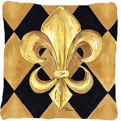 Caroline's Treasures Fleur De Lis New Orleans Indoor/Outdoor Throw Pillow