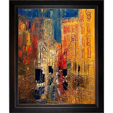 Tori Home Artisbe Rain w/ Street Cars by Justyna Kopania Framed Painting Print