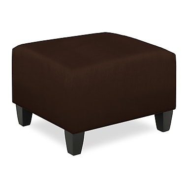 Tory Furniture City Spaces Upholstered Club Ottoman; Chocolate
