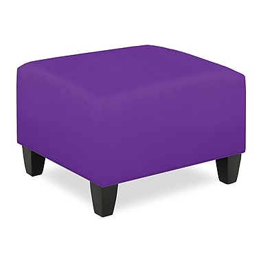 Tory Furniture City Spaces Upholstered Club Ottoman; Eggplant
