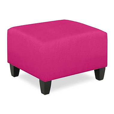Tory Furniture City Spaces Upholstered Club Ottoman; Fuchsia