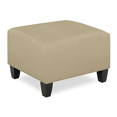 Tory Furniture City Spaces Upholstered Club Ottoman; Beige