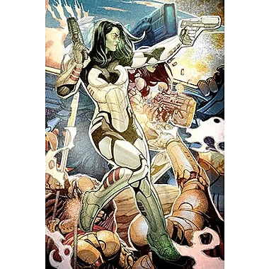 iCanvas Marvel Comics Gamora Collage Graphic Art on Canvas; 18'' H x 12'' W x 1.5'' D