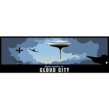 iCanvas Vacation in The Clouds by Darklord Painting Print on Canvas; 16'' H x 48'' W x 1.5'' D