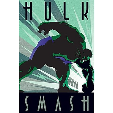 iCanvas Marvel Comics Hulk Smash Vintage Advertisement on Canvas; 40'' H x 26'' W x 0.75'' D