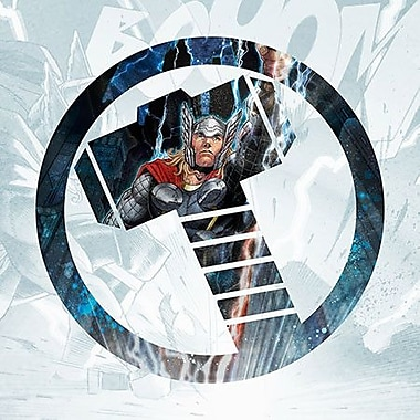 iCanvas Marvel Comics Thor's Symbol Graphic Art on Canvas; 18'' H x 18'' W x 0.75'' D