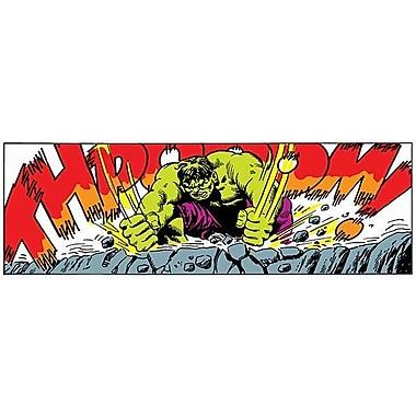 iCanvas Marvel Comics Hulk Art Panel B Graphic Art on Canvas; 16'' H x 48'' W x 0.75'' D
