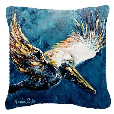 Caroline's Treasures Pelican Go for It Indoor/Outdoor Throw Pillow; 18'' H x 18'' W x 5.5'' D