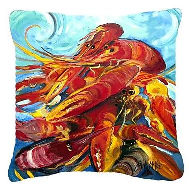 Caroline's Treasures Crawfish Indoor/Outdoor Throw Pillow; 18'' H x 18'' W x 5.5'' D