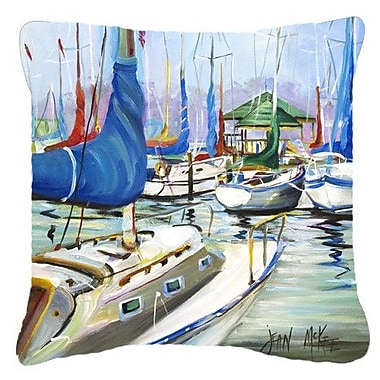 Caroline's Treasures Day Break Sailboats Indoor/Outdoor Throw Pillow; 18'' H x 18'' W x 5.5'' D