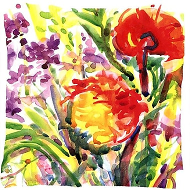 Caroline's Treasures Flower Indoor/Outdoor Throw Pillow