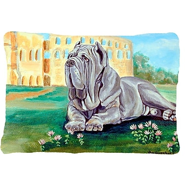 Caroline's Treasures Neapolitan Mastiff Indoor/Outdoor Throw Pillow