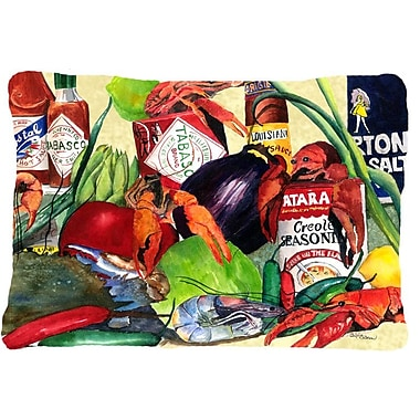 Caroline's Treasures Spices and Crawfish Indoor/Outdoor Throw Pillow