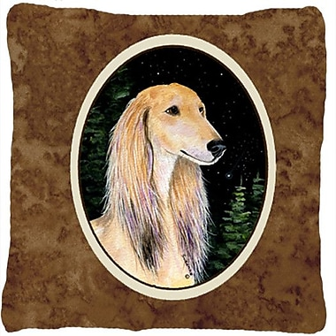 Caroline's Treasures Starry Night Saluki Indoor/Outdoor Throw Pillow