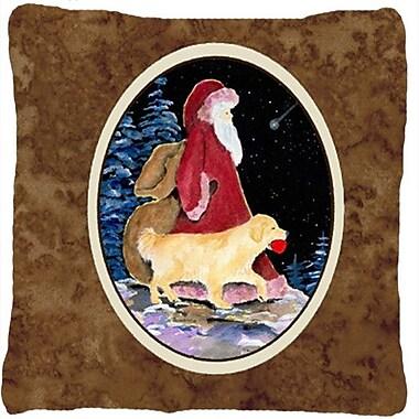 Caroline's Treasures Santa Claus w/ Golden Retriever Indoor/Outdoor Throw Pillow