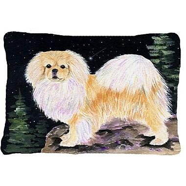 Caroline's Treasures Starry Night Tibetan Spaniel Indoor/Outdoor Throw Pillow
