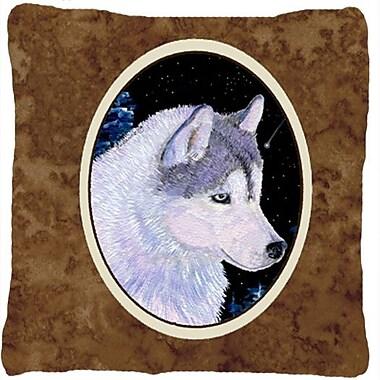 Caroline's Treasures Siberian Husky Indoor/Outdoor Throw Pillow