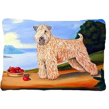 Caroline's Treasures Wheaten Terrier Soft Coated Indoor/Outdoor Throw Pillow