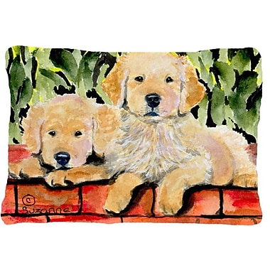 Caroline's Treasures Golden Retriever Indoor/Outdoor Throw Pillow