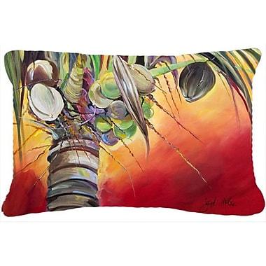 Caroline's Treasures Sunset on The Coconut Tree Indoor/Outdoor Throw Pillow