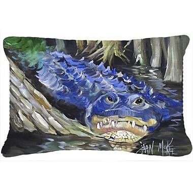 Caroline's Treasures Blue Alligator Indoor/Outdoor Throw Pillow