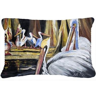 Caroline's Treasures Pelicans Indoor/Outdoor Throw Pillow