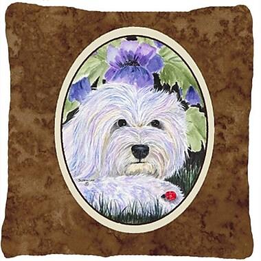 Caroline's Treasures Coton De Tulear Indoor/Outdoor Throw Pillow