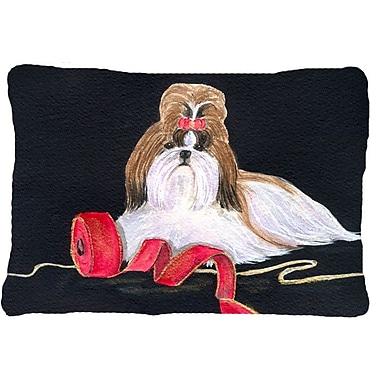 Caroline's Treasures Shih Tzu Indoor/Outdoor Throw Pillow