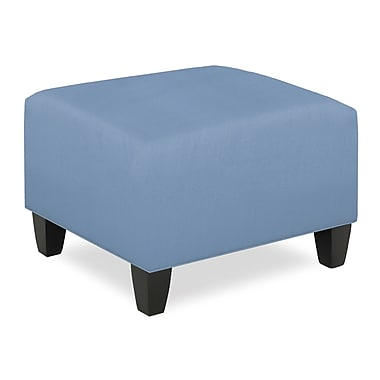 Tory Furniture City Spaces Upholstered Club Ottoman; Sky