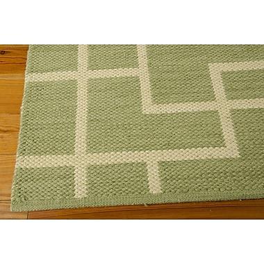 Barclay Butera Maze Legra Hand-Woven Green Area Rug; Runner 2'3'' x 8'