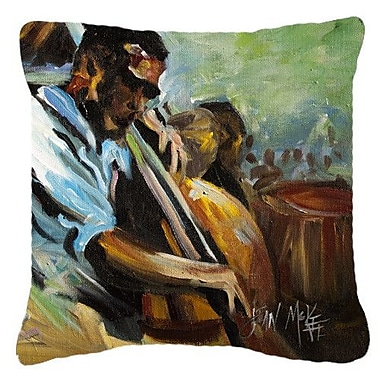 Caroline's Treasures Jazz Bass Indoor/Outdoor Throw Pillow; 14'' H x 14'' W x 4'' D