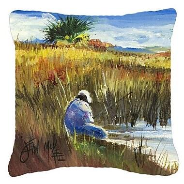 Caroline's Treasures Fishing on The Bank Indoor/Outdoor Throw Pillow; 18'' H x 18'' W x 5.5'' D