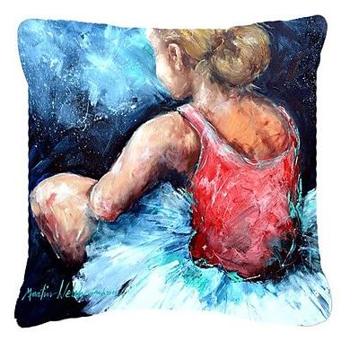 Caroline's Treasures Ballet Star Struck Indoor/Outdoor Throw Pillow; 14'' H x 14'' W x 4'' D