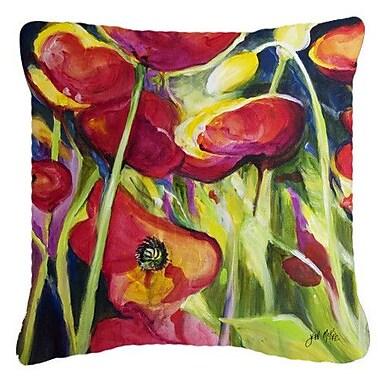 Caroline's Treasures Poppies Indoor/Outdoor Throw Pillow; 18'' H x 18'' W x 5.5'' D