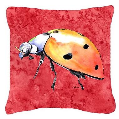 Caroline's Treasures Lady Bug Indoor/Outdoor Throw Pillow; 14'' H x 14'' W x 4'' D