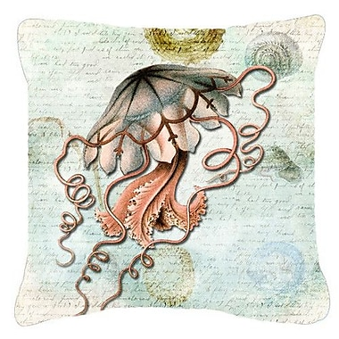 Caroline's Treasures Jellyfish Indoor/Outdoor Throw Pillow; 18'' H x 18'' W x 5.5'' D
