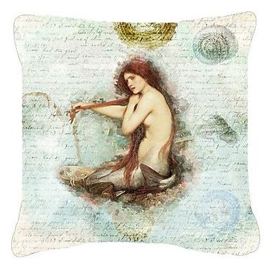 Caroline's Treasures Mermaids and Mermen Indoor/Outdoor Throw Pillow; 18'' H x 18'' W x 5.5'' D