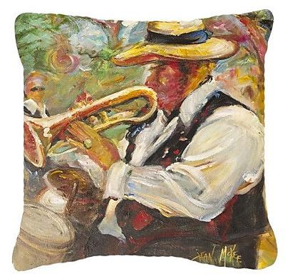 Caroline's Treasures Jazz Trumpet Indoor/Outdoor Throw Pillow; 14'' H x 14'' W x 4'' D